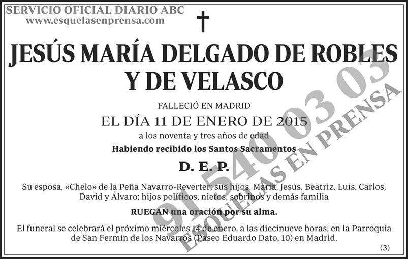 Jesús María Delgado de Robles y de Velasco